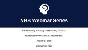 Ninth Brain Webinar: Patient Safety Organizations