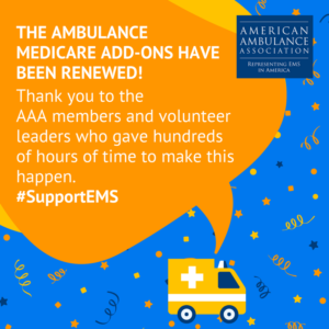 Ambulance Medicare Add-Ons Renewed!