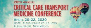 Critical Care Transport Medicine Conference (CCTMC) - Cancelled